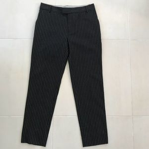 Band of Outsiders Striped Side Slit Ankle Pants